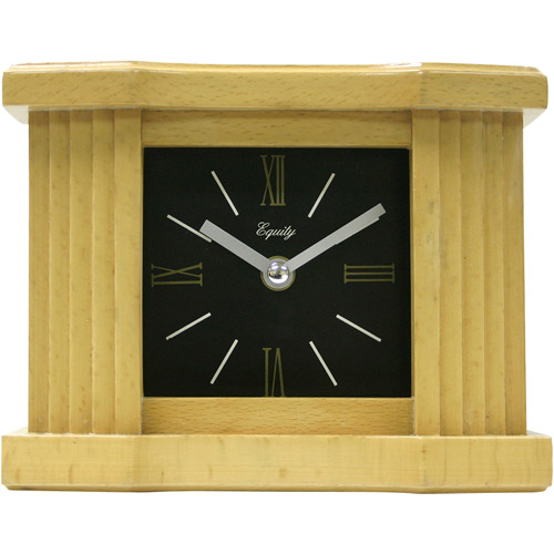 "Equity by La Crosse 6"" Wood Grain Mantel Clock"
