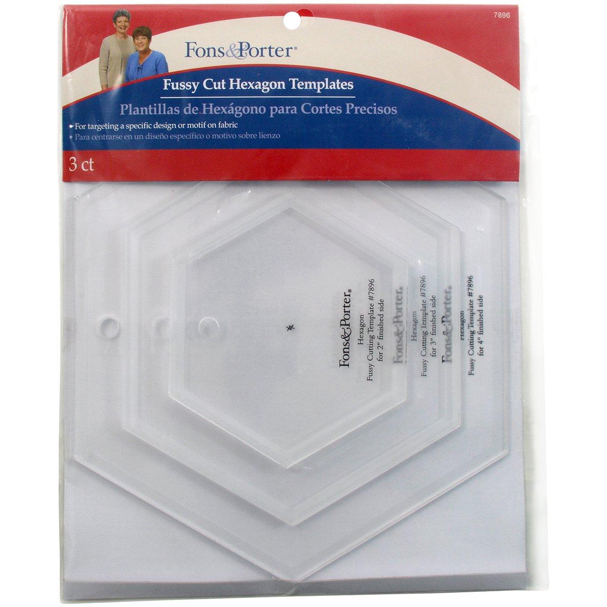 Dritz Hexagons Fons and Porter Fussy Cut Templates Arts & Crafts