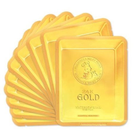 Snail Mask with 24 Karat Gold Improves Skin Elasticity 10 Sheets by
