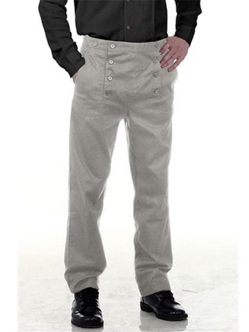 The Pirate Dressing C1403 Architect Mens Hundred Percent Cotton, Grey - Medium