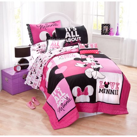 Disney Minnie Mouse Bedding Quilt Set Walmart Com