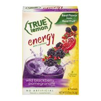(2 Pack) True Lemon Energy Drink Mix, .57 Oz, Blackberry Pomegranate, 1 Box
