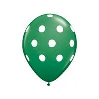 "12"" CLOUD 9 Latex Polkadot Balloons- Balloons25/pk Green 2PK"