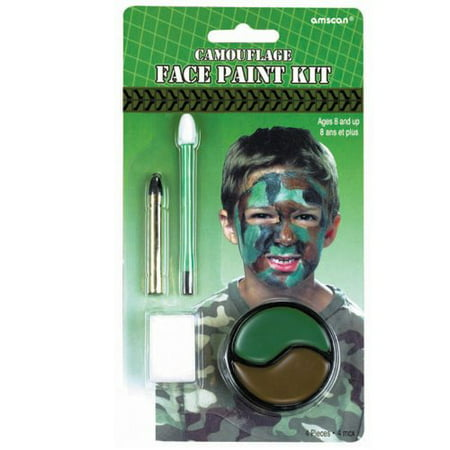 Camouflage Face Paint - Paint Camouflage Face Halloween