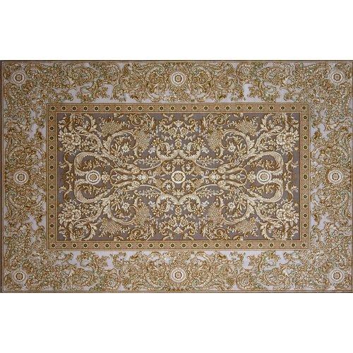 Astoria Grand Grim Hand Look Persian Wool Brown/Orange/Ivory Area Rug