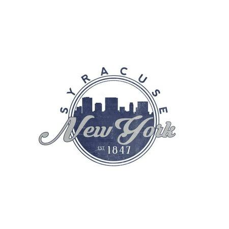 Syracuse, New York - Skyline Seal (Blue) Print Wall Art By Lantern Press](Party City Syracuse New York)