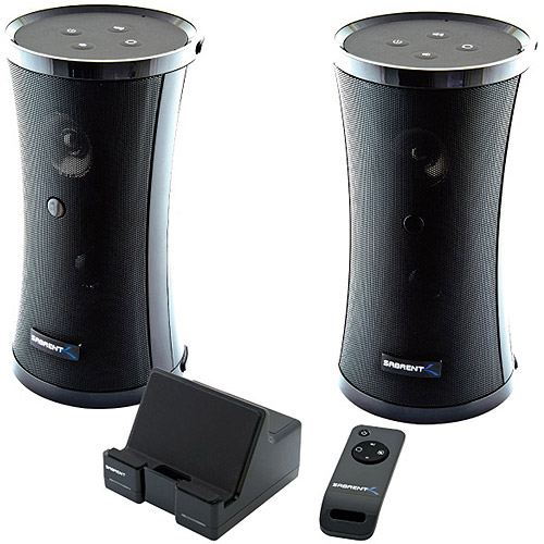 Sabrent SP-NELO Speaker System - 8 W RMS - Wireless Speaker(s) - 40 Hz - 12 kHz - 164 ft - iPod Supported