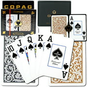 Trademark Poker 2pk Copag 1546 Design Card Deck, Black and Gold