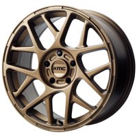 "KMC KM708 Bully 17x8 5x4.5"" +38mm Bronze Wheel Rim 17"" Inch"