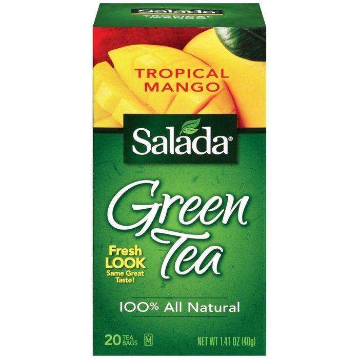 Salada Tropical Mango Green Tea Bags 20 ct (Pack of 6)