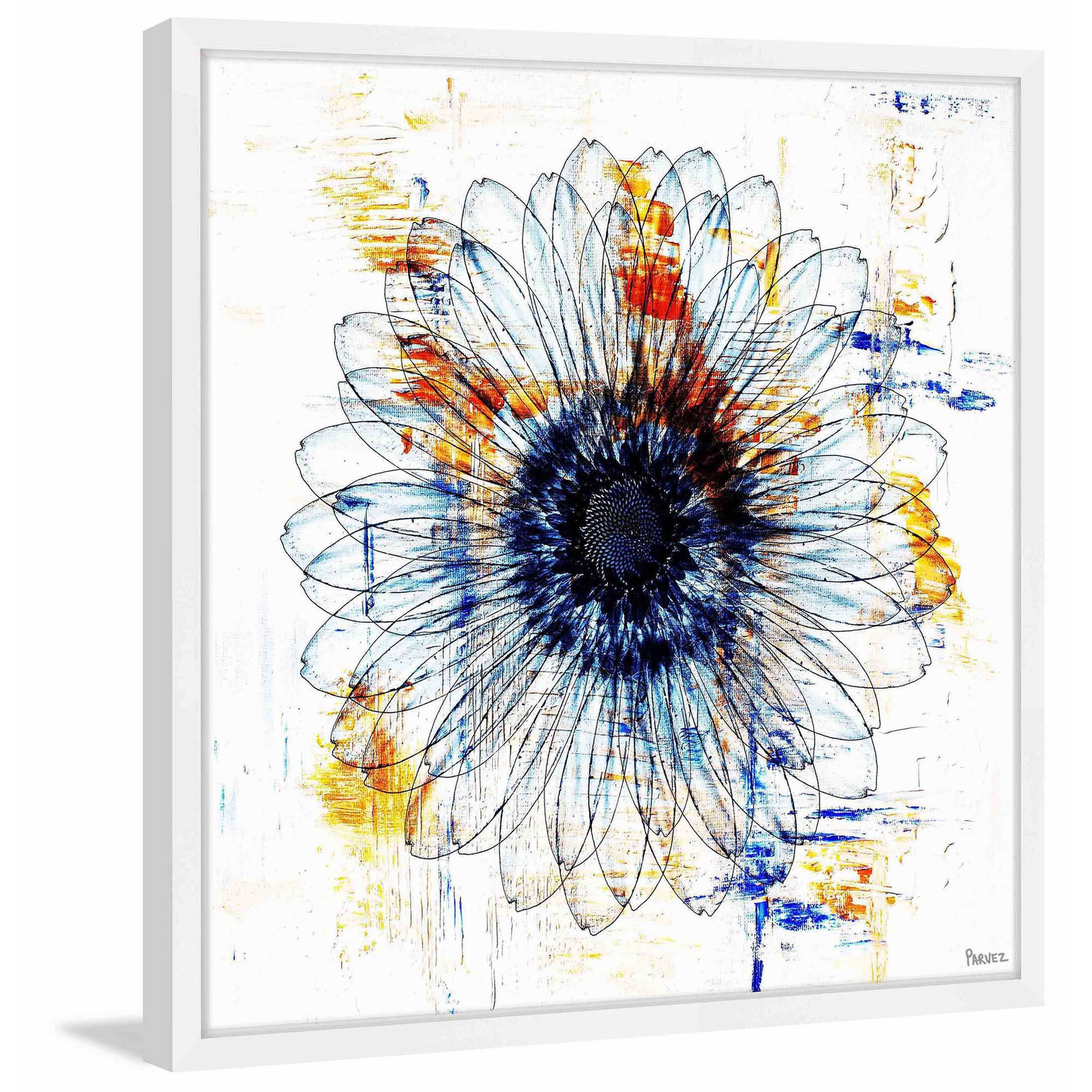 """Stencil Flower"" Framed Painting Print by Parvez Michel Inc."