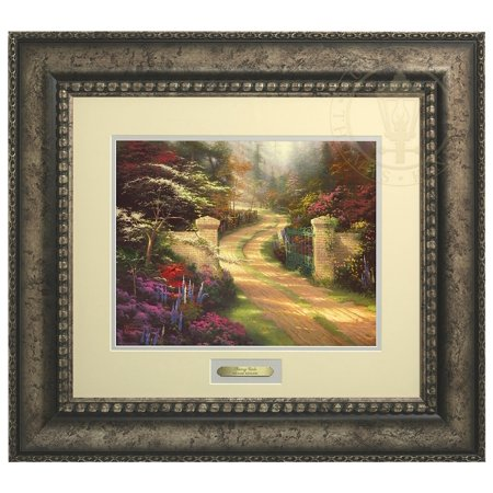 Thomas Kinkade Spring Gate - Prestige Home Collection (Antiqued Silver Frame)