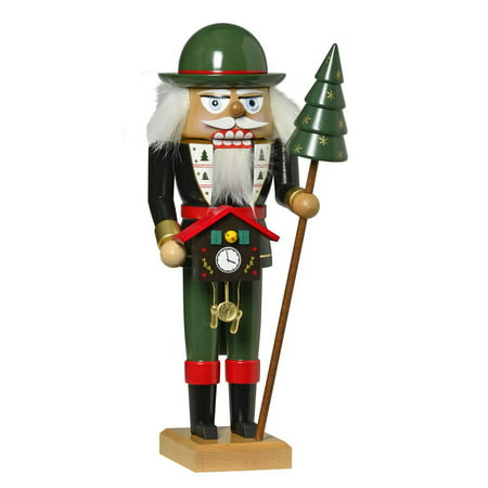 KWO Black Forest Clock Salesman German Wood Christmas Nutcracker Made in Germany