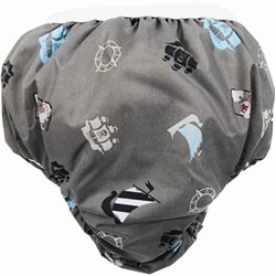Potty Taffeta Training Pants - Small - Charcoal Pirate By Kushies Ship from US