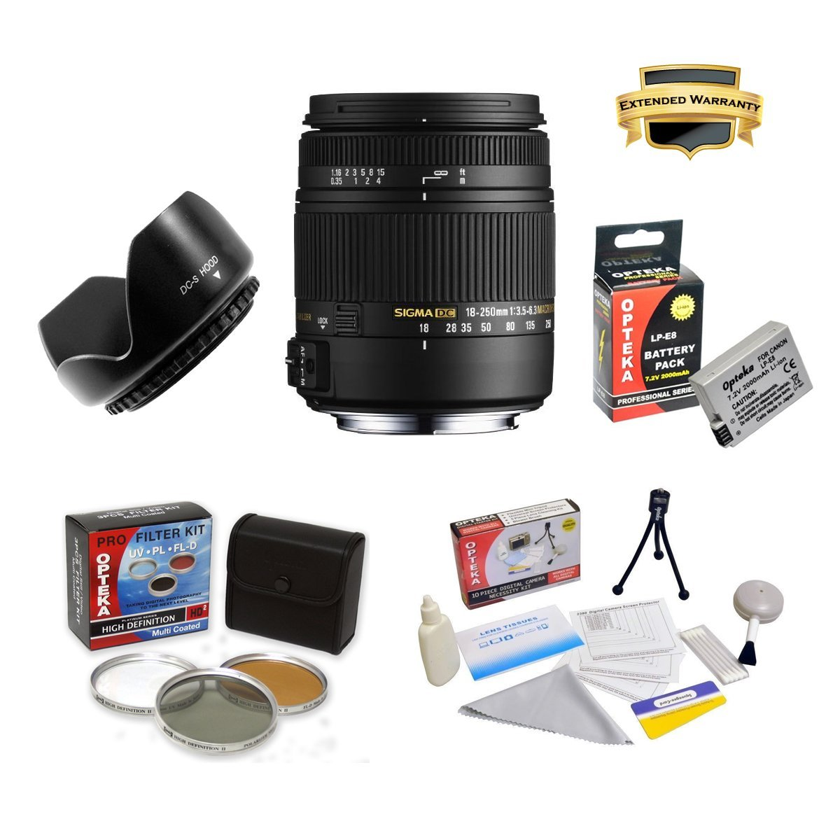 Sigma 18-250mm f/3.5-6.3 DC OS HSM IF Lens Specific for t...