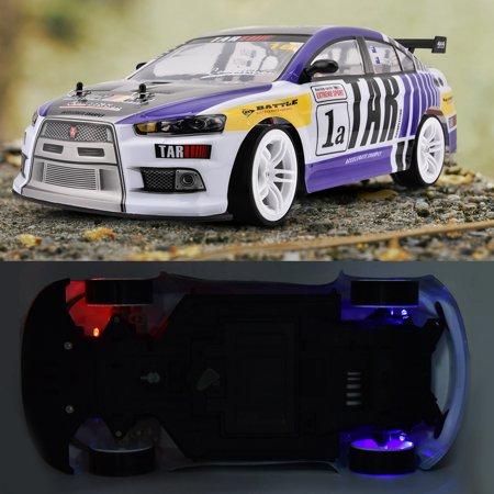 Herwey RC Racing, voiture de jouet RC, 1/10 quatre roues motrices 4WD télécommande modèle RC Racing Car Drift Toy Vehicle - image 7 de 8