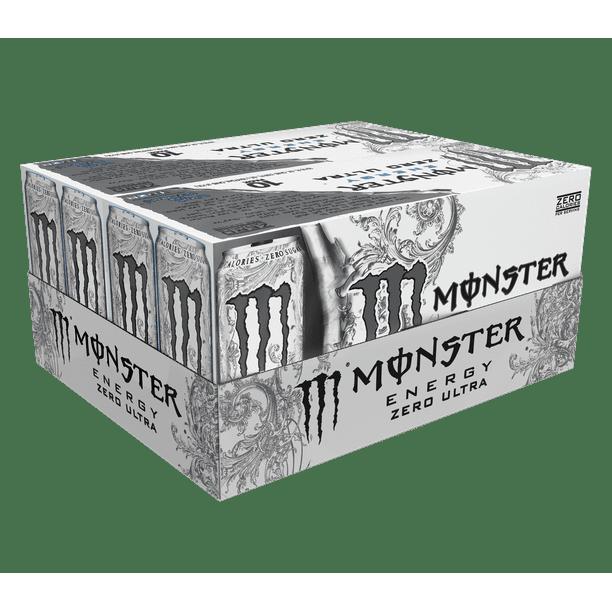 (20 Cans) Monster Ultra Energy Drink, Zero, 16 fl oz - Walmart.com - Walmart.com
