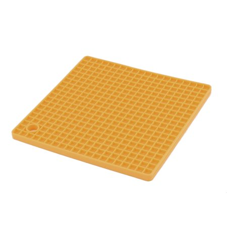 Kitchen Silicone Rectangle Shaped Table Decor Heat Insulation Placemat Orange ()