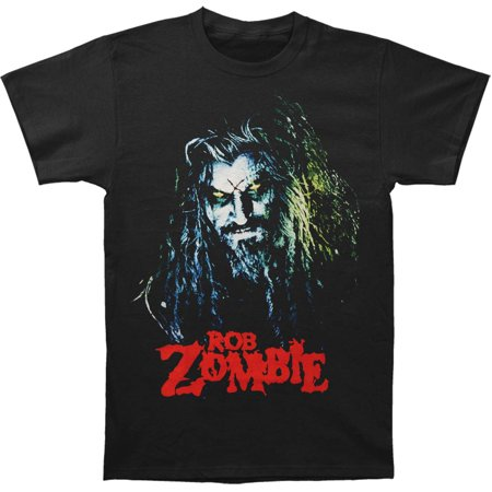 Rob Zombie Men's  Hell Billy Head T-shirt Black - Rob Zombie Clown