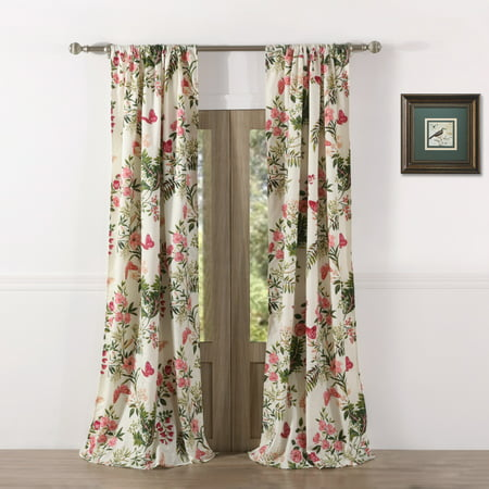 Global Trends Botanical Curtain Panel, Set of