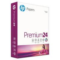 HP Premium24 Printer Paper, 100 Bright, 24lb, 8.5 x 11, Ultra White, 500 Sheets / 1 Ream -HEW112400