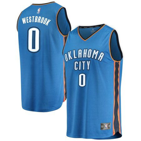 Russell Westbrook Oklahoma City Thunder Fanatics Branded Youth Fast Break Replica Jersey Blue - Icon Edition