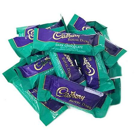 Cadbury Royal Dark Chocolate Creamy Mint Bar, Snack Size, 1 pound bag Mint 5 Pound Bag