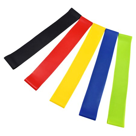 Set of 5 Exercise Resistance Loop Bands with Carry Bag Latex Gym Strength Training Loops Bands Workout Bands Home Fitness Physical Therapy - image 6 de 6