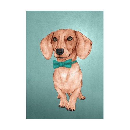 The Wiener Dog Print Wall Art By Barruf