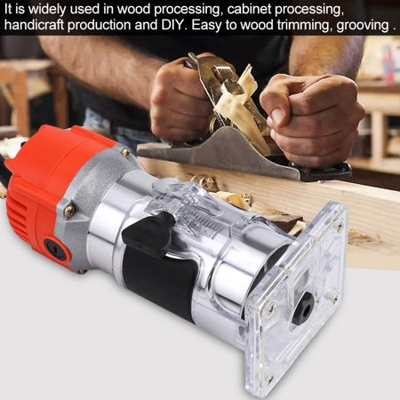 Greensen 110V 30000R/MIN Electric Hand Trimmer Wood Laminator Router Tool Set (US plug), Laminator Router, Wood Laminator Router