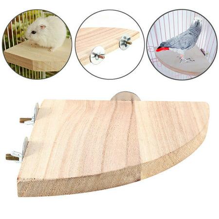 Wooden Pet Parrot Bird Cage Platform Stand Hamster Perches Parakeet Rat Toy