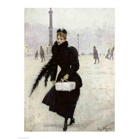 Posterazzi BALXIR19975LARGE Parisian Woman in The Place De La Concorde Poster Print by Jean Beraud - 24 x 36 in. - Large - image 1 of 1