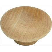 "Hickory Hardware P183 Unfinished Wood Natural Woodcraft 7/8"" Mushroom Cabinet Knob"