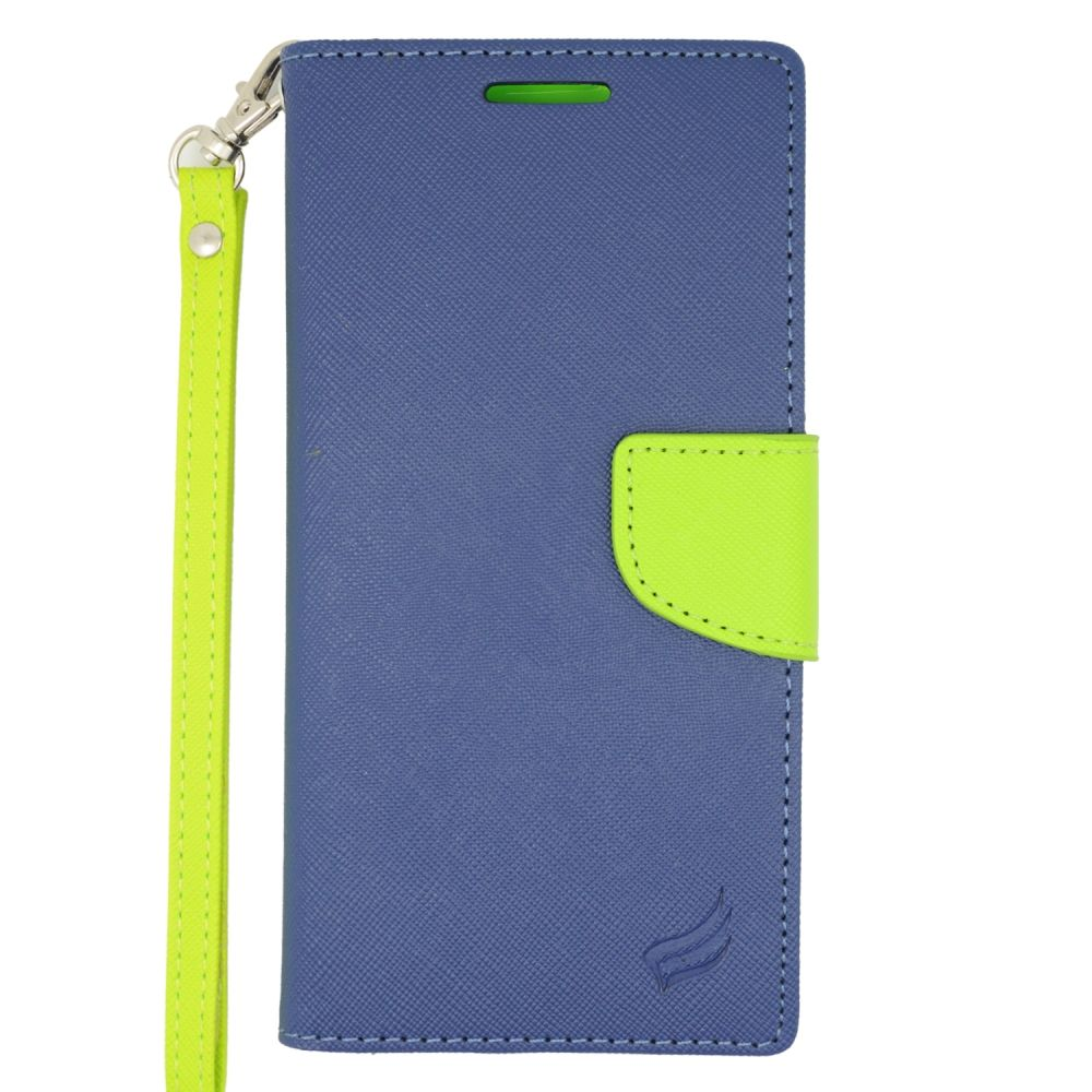 Insten Wallet Leather Case with Card Slot & Lanyard For HTC Desire Eye - Dark Blue/Green - image 3 of 3