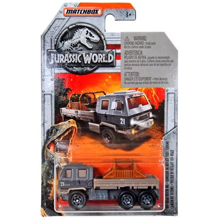 Rig Vehicle - Jurassic World Matchbox Off-Road Rescue Rig Diecast Vehicle