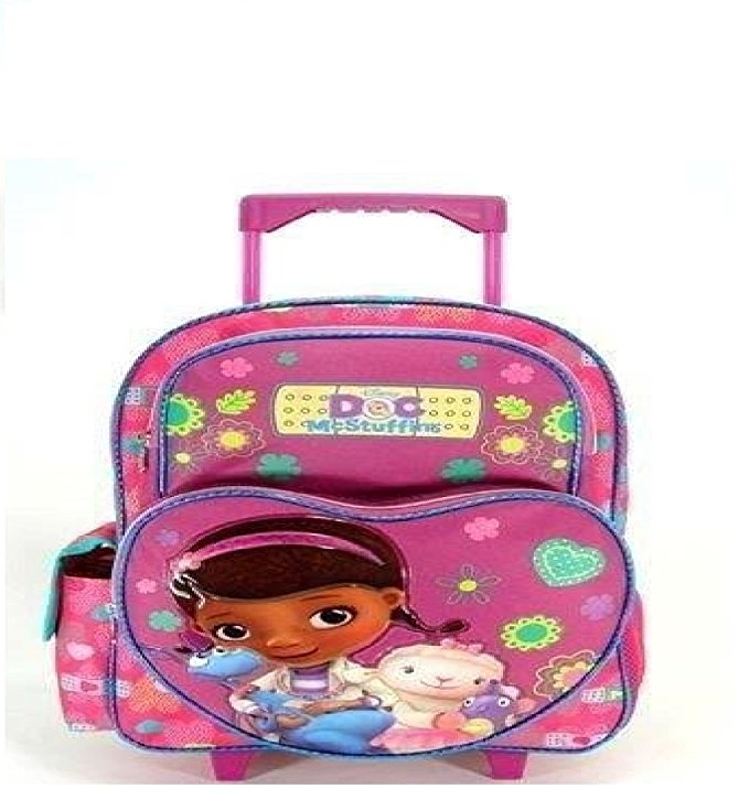 "Disney Doc McStuffins 16"" Large Rolling Backpack"