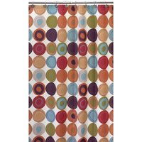 dot swirl 13 piece shower curtain with bonus coordinating hooks set multi colors - Colorful Shower Curtains