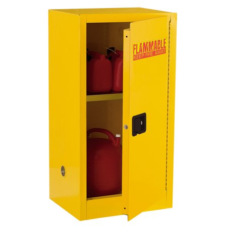 44 in. H x 23 in. W x 18 in. D Steel Freestanding Flammable Liquid Safety Single-Door Storage Cabinet in Yellow