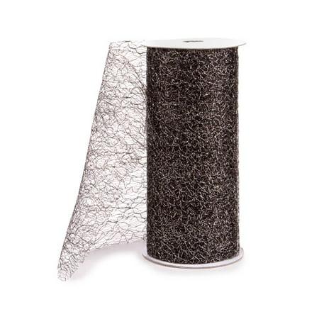 6yd Latex - Darice Metallic Mesh: Black, 6 in x 8 yd