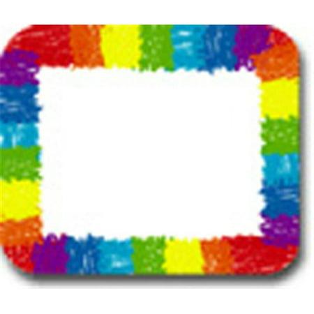 CARSON DELLOSA CD-9476 NAME TAGS RAINBOW: KID-DRAWN-40/PK SELF-ADHESIVE (Sticker Name Tags)