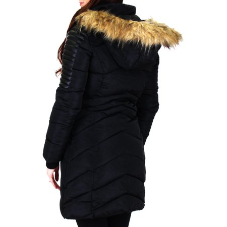 Nanette Nanette Lepore Womens Winter Quilted Puffer Coat