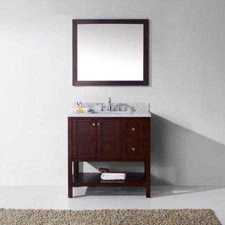Virtu Usa  Winterfell 36 Inch Single Bathroom Vanity Cabinet Set In Cherry