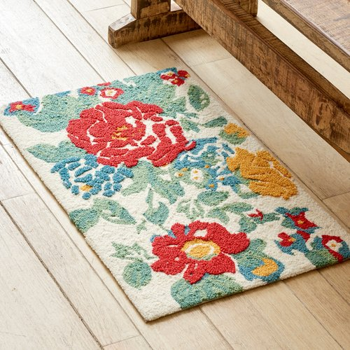 the pioneer woman country garden rug - walmart