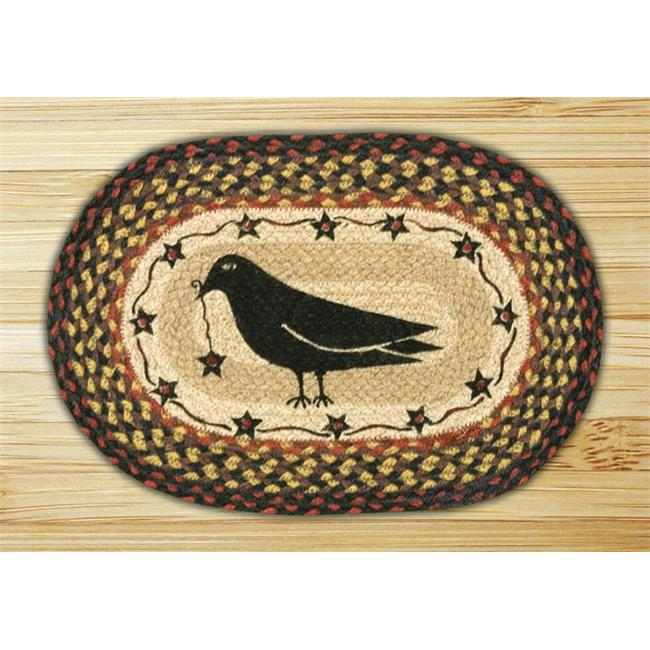 Capitol Importing 81-919CS Crow & Star - 10 inch x 15 inch Hand Printed Oval Swatch