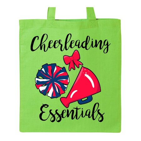 Cheerleading Essentials Bow Megaphone and Pom Poms Tote Bag Lime Green One Size for $<!---->