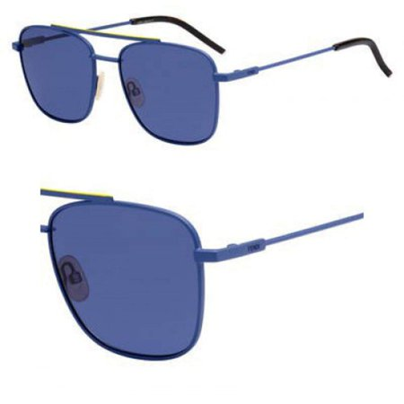 Sunglasses Fendi Men Ff M 8/S 0FLL Matte Blue/KU blue avio lens