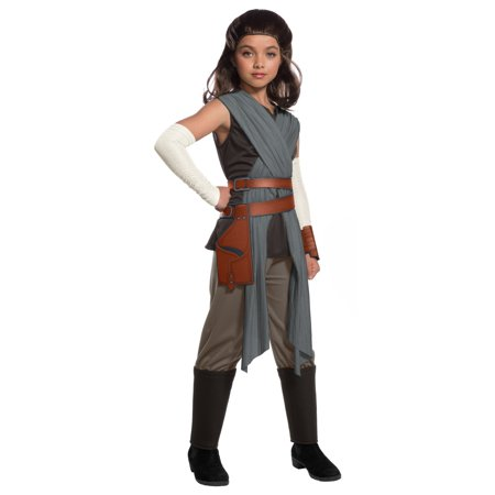 Star Wars Episode VIII - The Last Jedi Deluxe Girl's Rey - Jedi Costumes For Adults