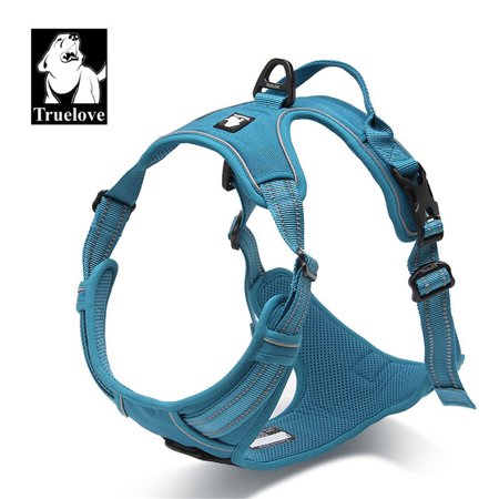 Dog Harness No-Pull Pet Harness Adjustable Outdoor Pet Vest Reflective for Dogs Easy Control for Small Medium Large Dogs Blue