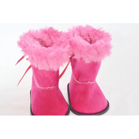 My Brittany's Pink Hugg Boots For American Girl Dolls - Hot Pink Girls Boots
