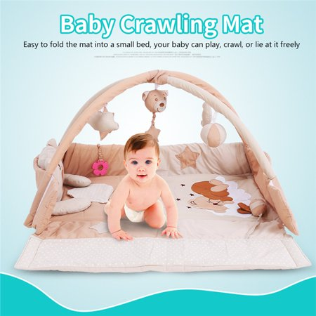 ced36fbb0 Walfront 3 in 1 Baby Play Mat Infant Cartoon Crawling Carpet with ...